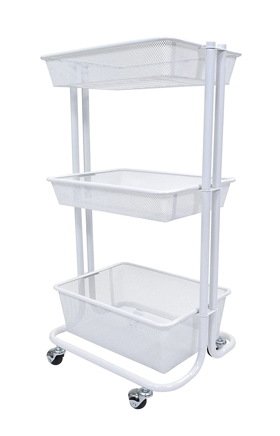 Amazon.com : Home Kitchen Bedroom Storage Utility Cart (White) : Office  Products