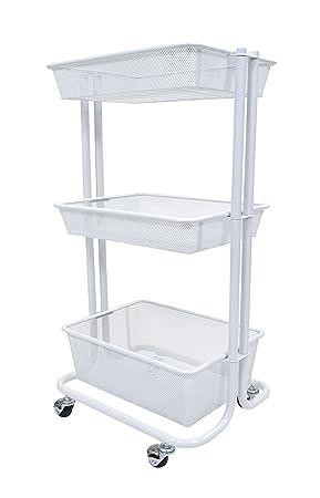 Home Dormitorio y Cocina Storage Utility Cart: Amazon.es: Oficina y papelería