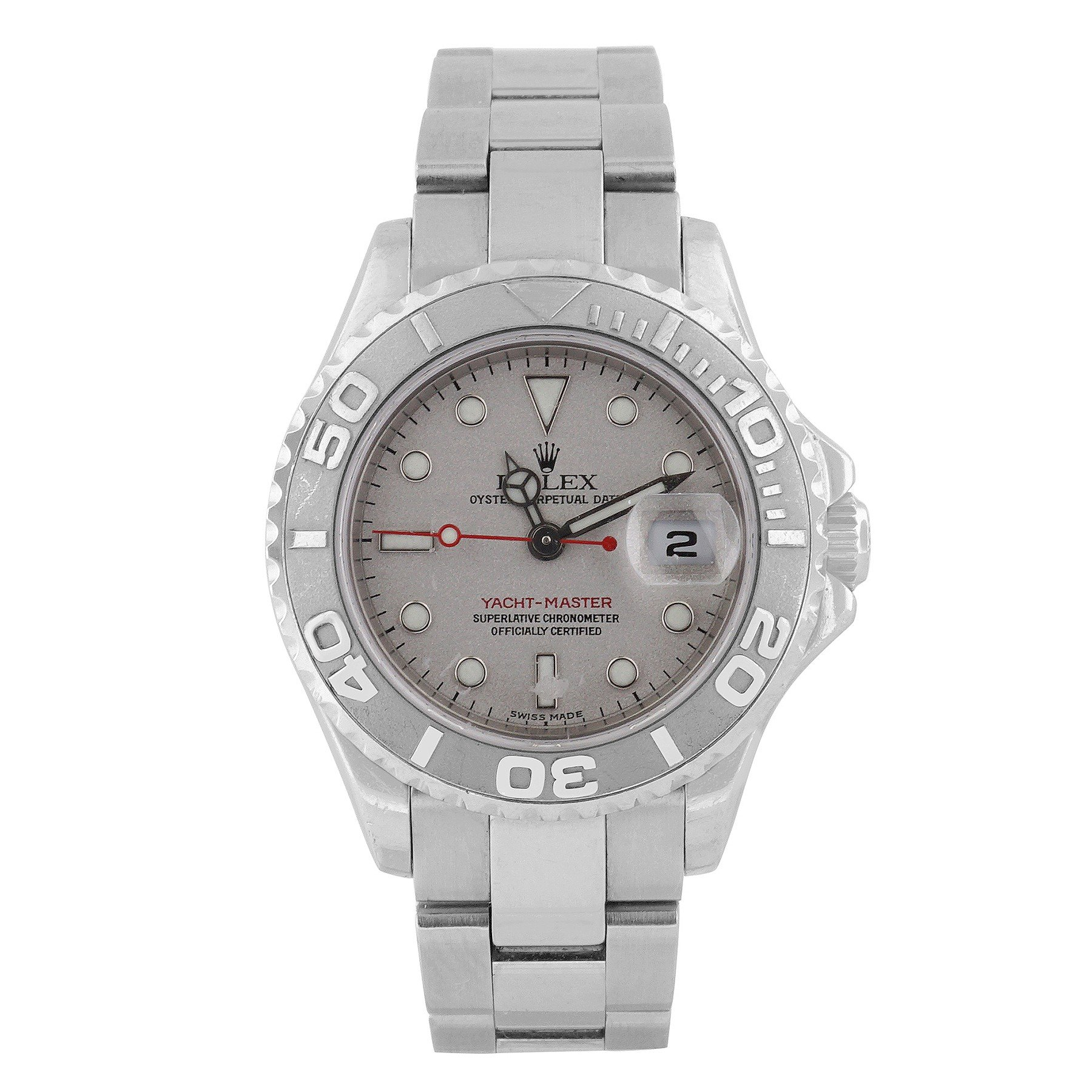 Rolex Yacht-Master swiss-automatic silver womens Watch 169622-GYSO (Certified Pre-owned)