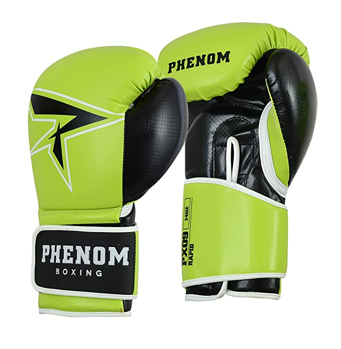 Phenom White Boxing Gloves Punch Bag Training MMA Muay Thai Sparring Kickboxing
