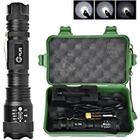 CVLIFE Rechargeable Flashlight Tactical Outdoor Torch Light