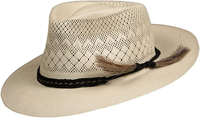 Horsehair hat band replacement strap, western, cowboy or fedora