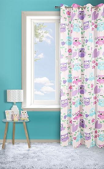 Amazon.de: Vorhang 140x250 cm violett für Mädchen Kinderzimmer DIZZY ...