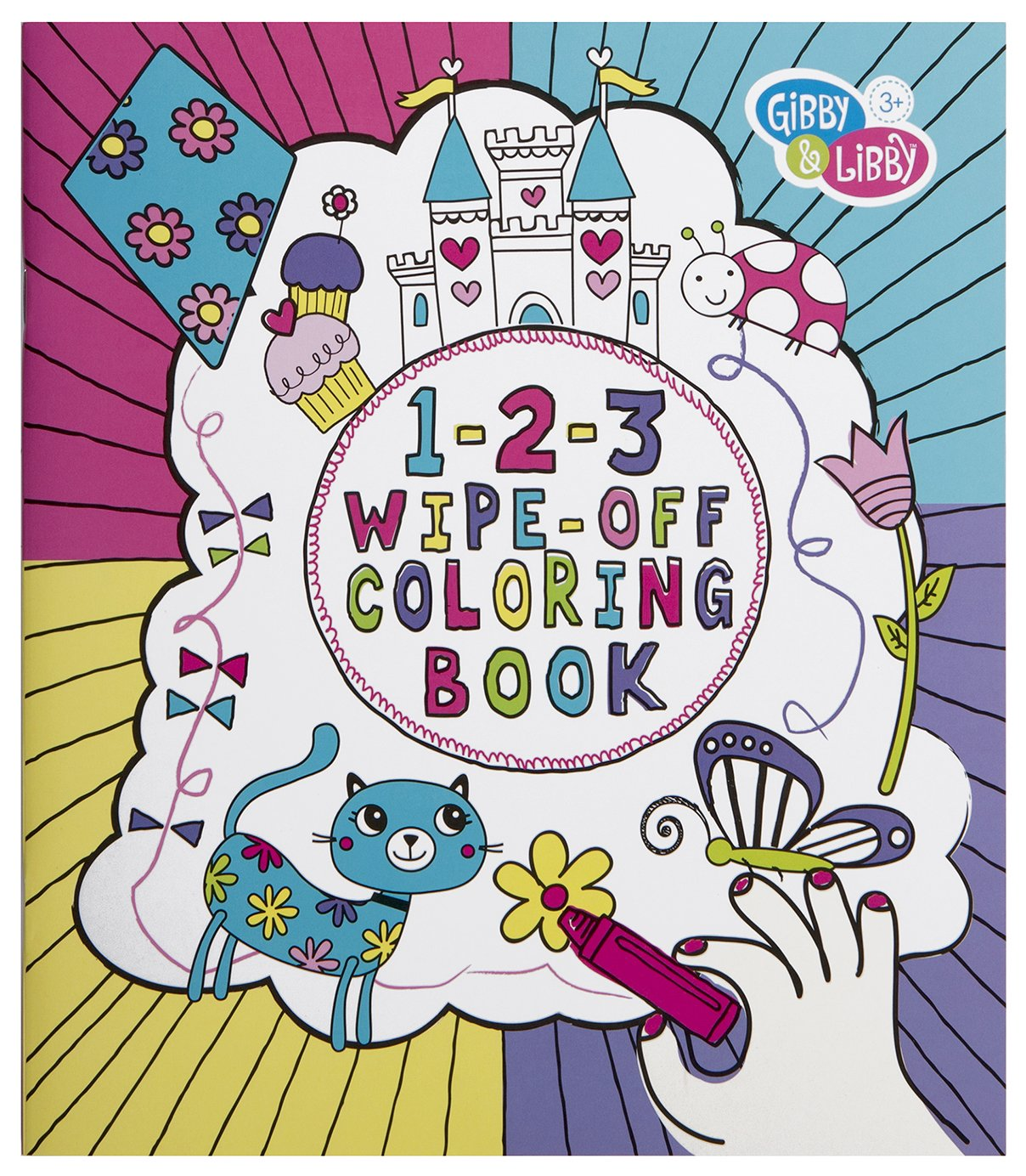 Gibson Gibby /& Libby 1-2-3 Wipe-Off Coloring Book for Girls BWCB-14582 C.R