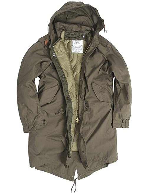 new product 3b72b d4fda US Army Olive Drab M51 Fishtail Winter-Kapuzen-Parka / -Jacke mit Futter