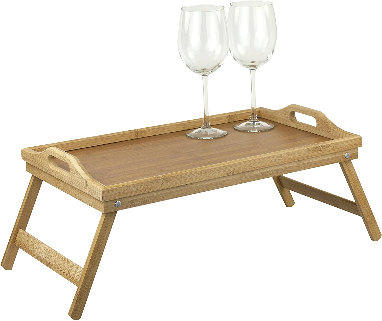 Home Basics Bamboo Breakfast Bed Tray, Natural