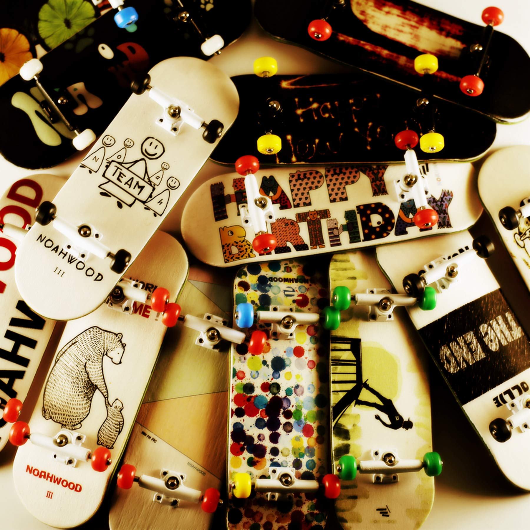 NOAHWOOD Wooden PRO Fingerboards (Deck,Truck,Wheel / a Set) (Happy New Year I) by NOAHWOOD (Image #9)