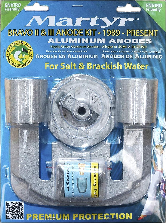 Martyr MerCruiser Bravo 2 /& 3 Magnesium Fresh Water Anode KIT Zinc CMBRAVO23KITM