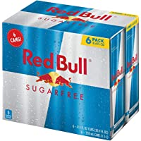 6-Pack Red Bull Energy Drink Sugar Free, 8.4 Fl Oz