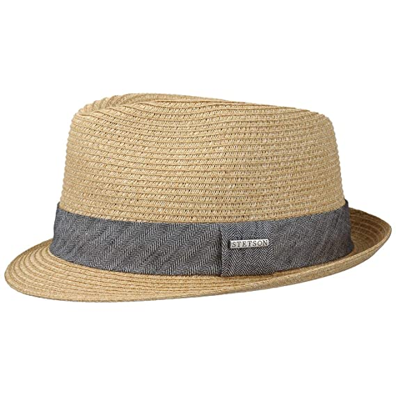 15d8419c246 Stetson Reidton Toyo Trilby Straw Hat Men´s Summer  Amazon.co.uk ...