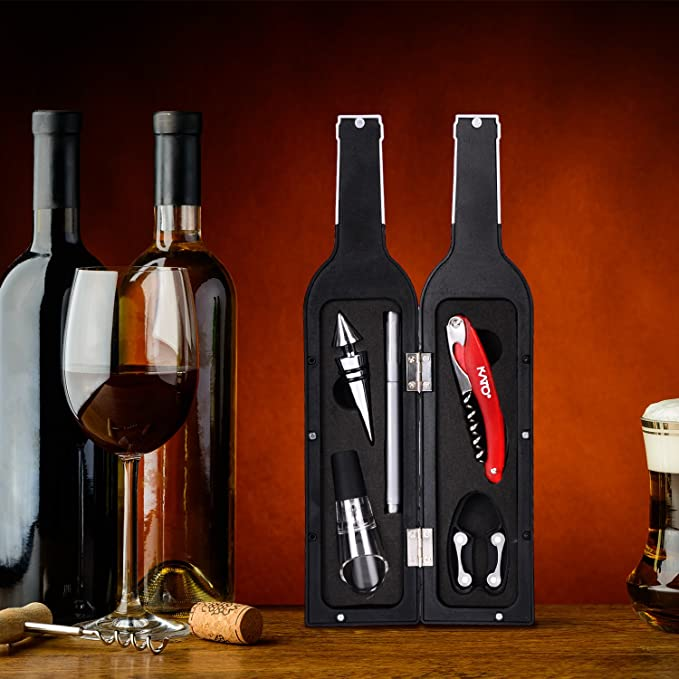 Kato Wine Bottle Accessories Set