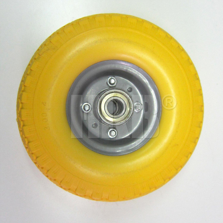 Rueda para carretilla con rodamiento de bolas HKB® - 2 uds, fabricado en PU, 260 mm, 130 kg: Amazon.es: Bricolaje y herramientas