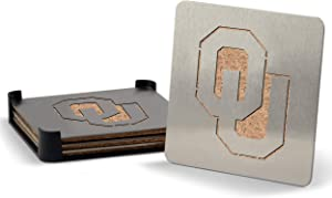 YouTheFan NCAA Boasters, 4-Piece Stainless Steel Laser-Cut Team Coaster Set