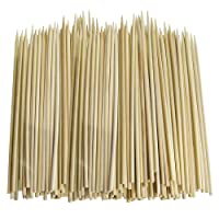 100 x SKEWERS IN BAMBOO (CARDED) Size 250mmP