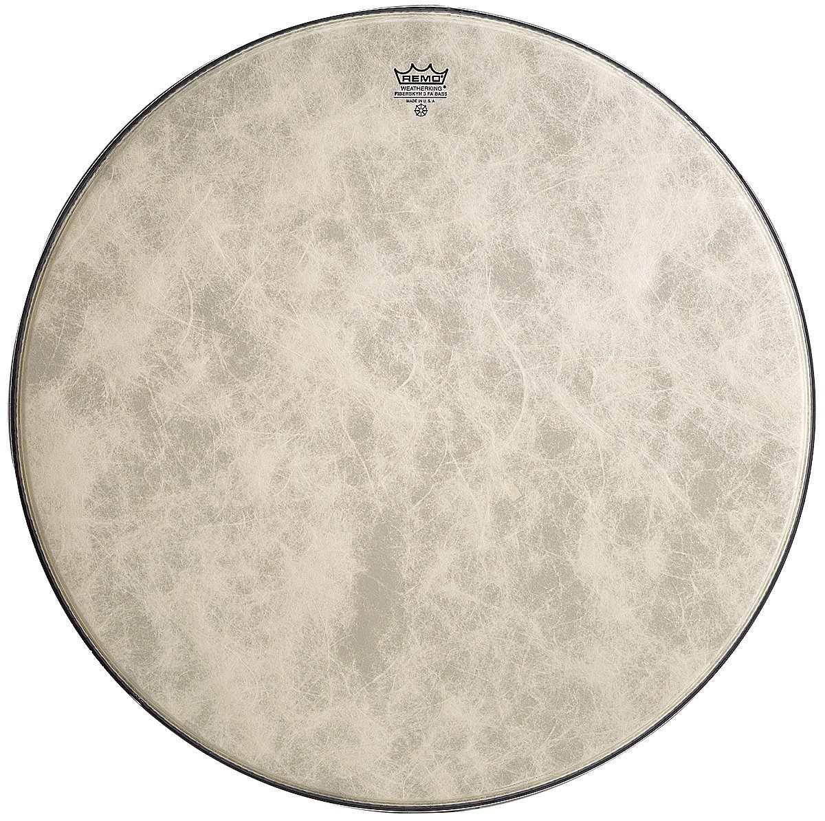 Remo FA1522-00 22-Inch Fiberskyn 3 Ambassador Bass Drum Head by Remo