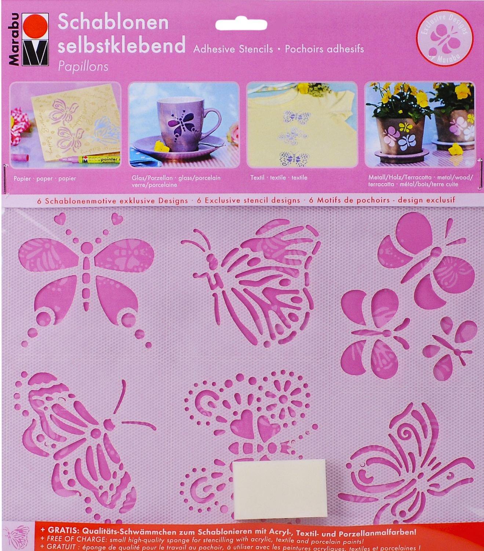 Marabu 027400006 - - Schablone selbstklebend Papillons A5: Amazon.de ...