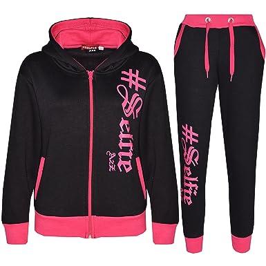 0d619611 A2Z 4 Kids® Kids Tracksuit Boys Girls Designer's #Selfie Print Zipped Top  Hoodie & Bottom Jogging Suit Joggers Age 5 6 7 8 9 10 11 12 13 Years