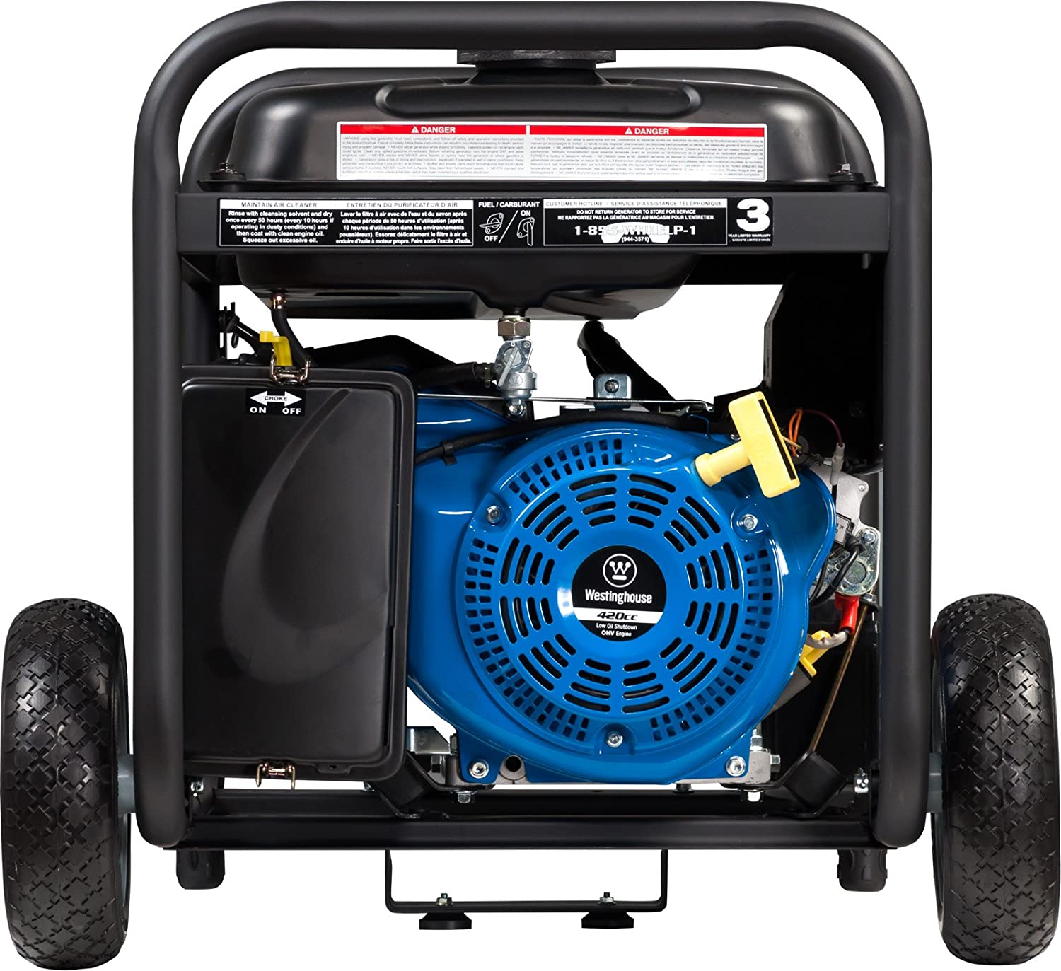 Amazon Westinghouse WH6500E Portable Generator 6500 Running