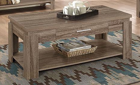 Amazon.com: Acme Muebles Xanti sofá mesa, Madera, Gris topo ...
