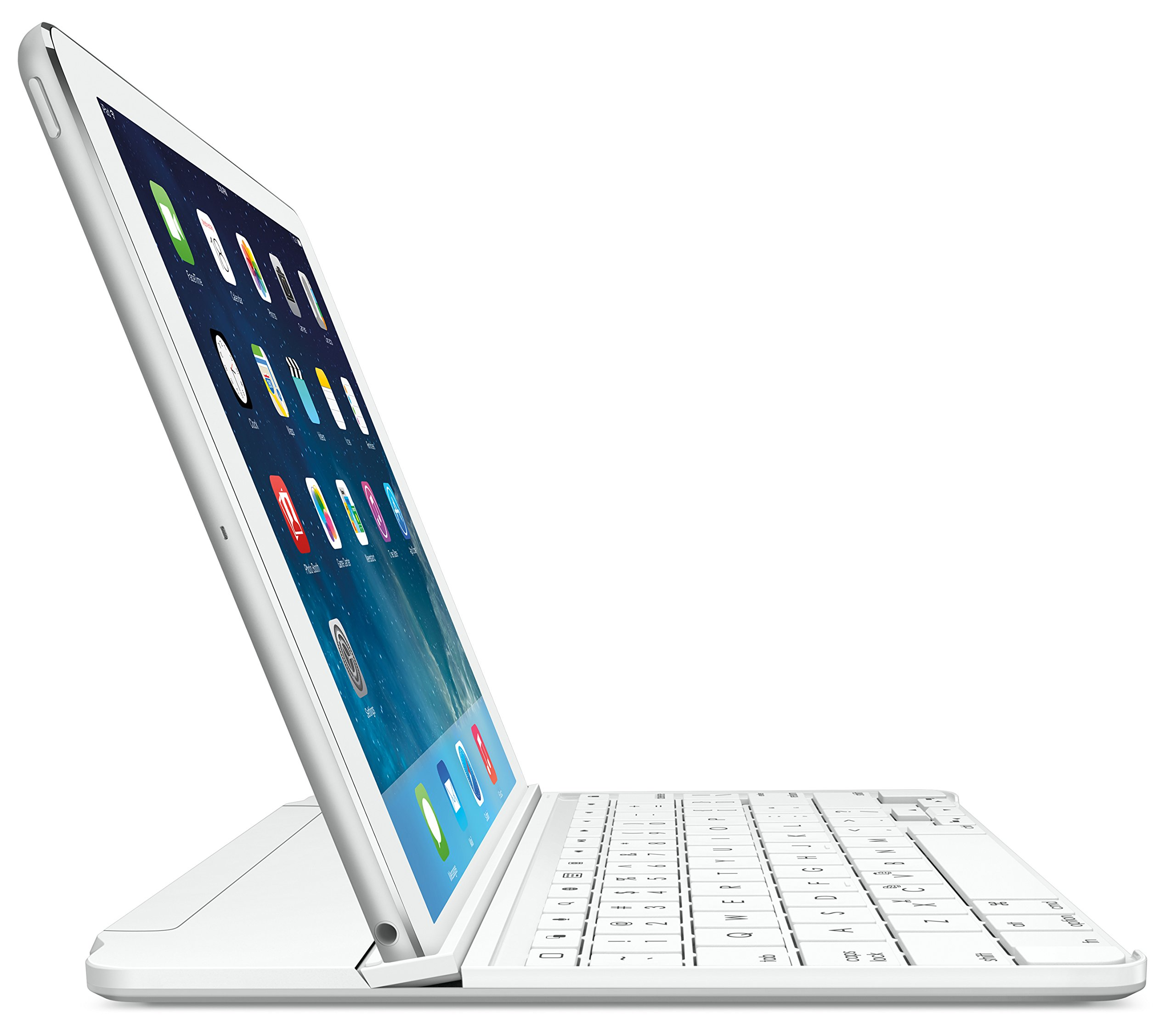 Logitech Ultrathin Magnetic Clip-On Keyboard Cover for iPad Air, Silver by Logitech (Image #1)
