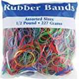 BAZIC Assorted Dimensions 227g/0.5 lbs. Rubber Bands, Multi Color (465-48P) (2, 1/2 - Pound)