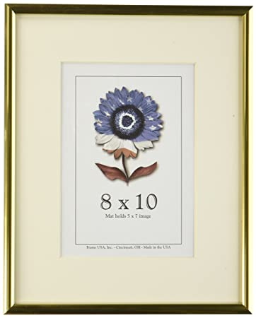 Amazoncom 8x10 Shiny Gold Metal Picture Frame