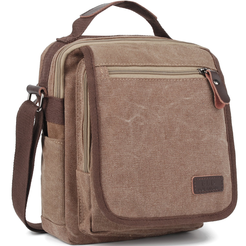 Canvas Messenger Bag Vintage Crossbody Shoulder Bags Multifunctional Murse Fits Ipad or Tablet Up to 10 Inch