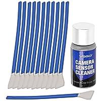UES DSLR Digital Camera APS-C Frame (CCD/CMOS) Sensor Cleaning Swab Kit (Box of 12 X 16mm Swabs + 15ml Sensor Cleaner)