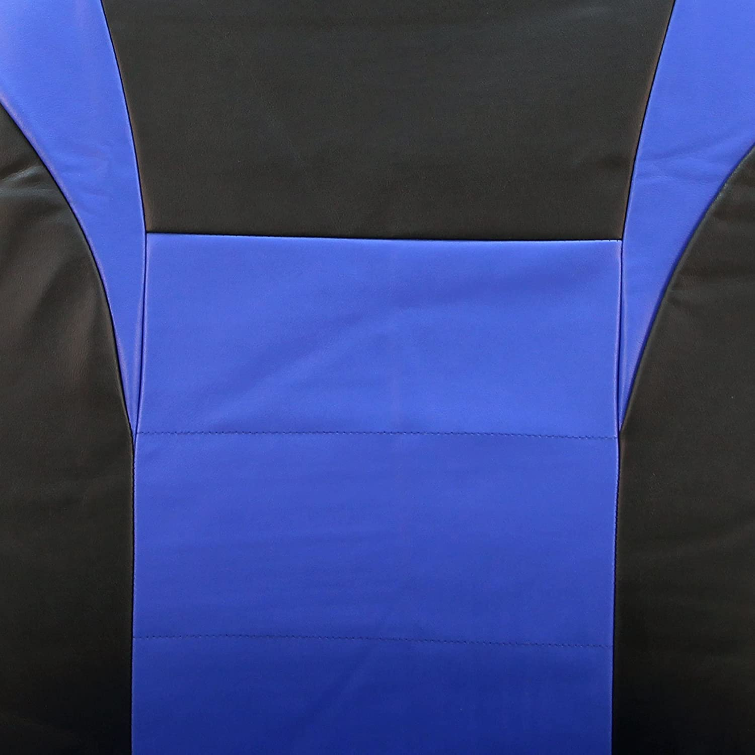 Full Set Airbag Compatible and Split Bench FH Group PU003BLUE115 Blue Racing Style Faux Leather Seat Cover