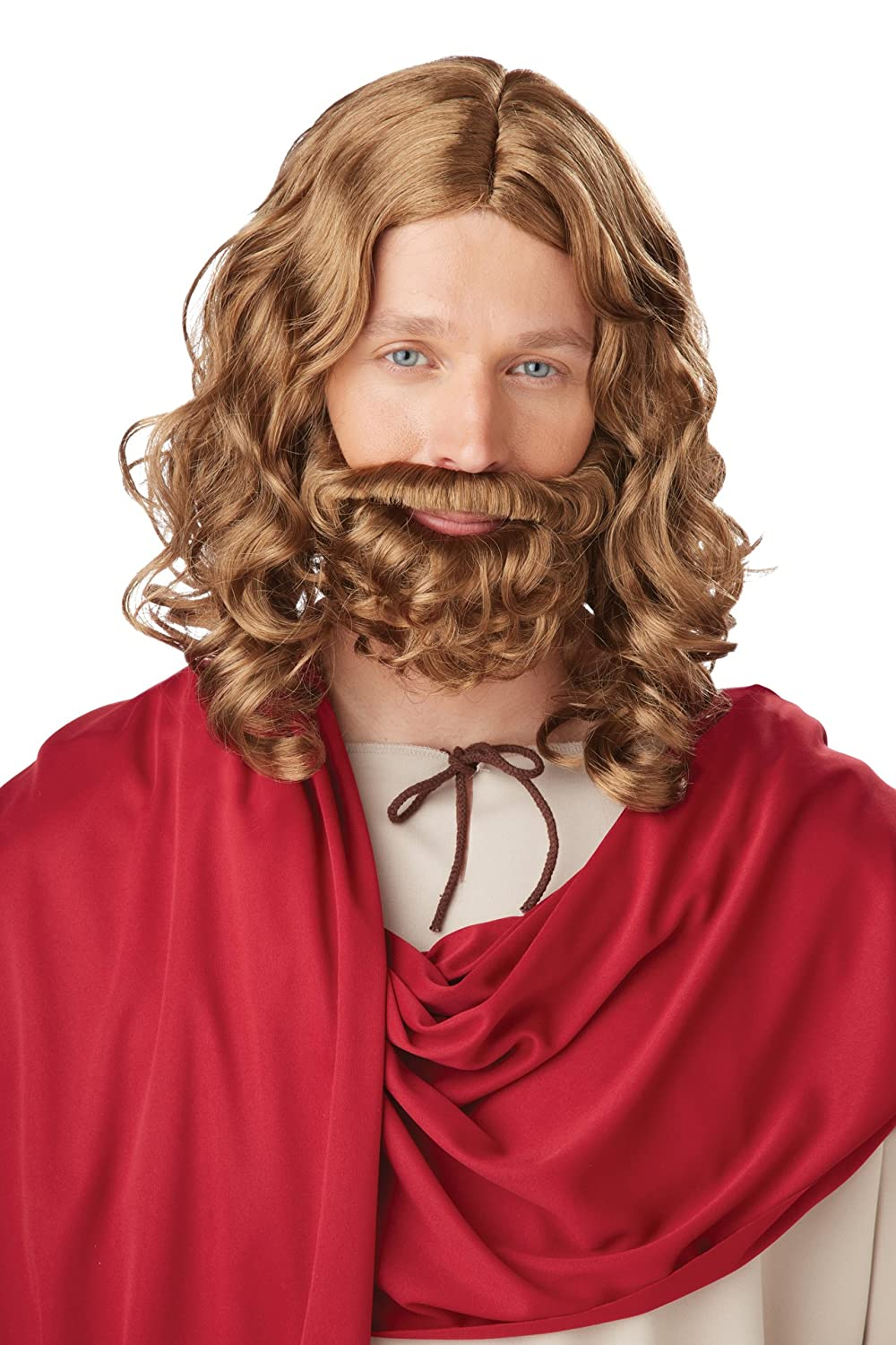 California Costumes Men's Jesus Wig and Beard Adult Brown One Size 70754