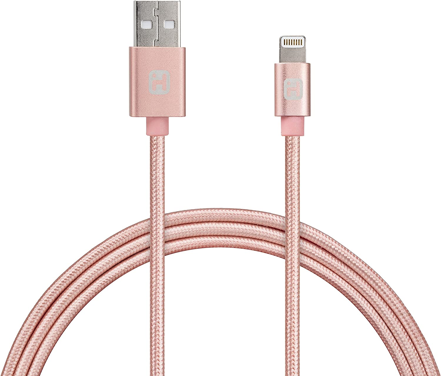 iHome Lightning Cable for 8 pin Lightning Devices - Rose Gold - 6'