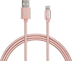 iHome Lightning Cable for 8 pin Lightning Devices - Rose Gold - 6