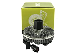OAW 12-F3261 Electronic Cooling Fan Clutch for 04-10 Ford E350 E450 & 03-07 Ford F250 F350 F450 F550 Excursion 6.0L Powerstroke Diesel