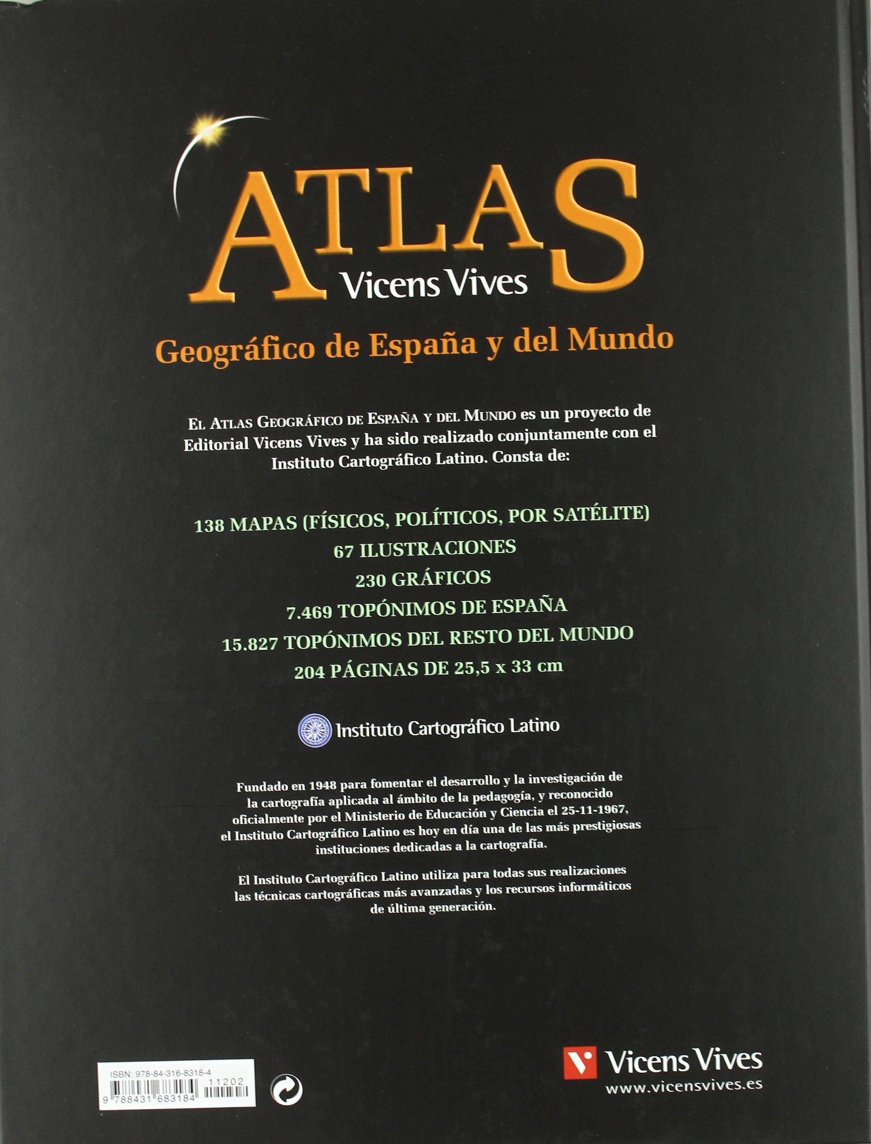 ATLAS GEOGRAFICO ESPAÑA Y MUNDO N/C: Atlas Geográfico De España Y Del Mundo: 000001 - 9788431683184: Amazon.es: Instituto Cartográfico Latino, Instituto Cartográfico Latino: Libros