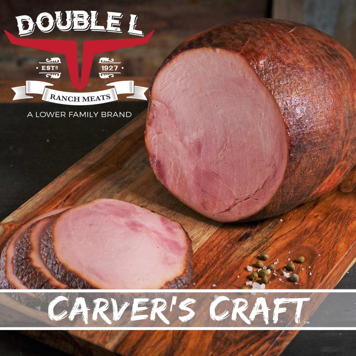 Boneless Holiday Ham by Double L Ranch Meats | Hickory Smoked | Fully Cooked & Ready to serve 8-9 Lbs. (Serves 20-25)
