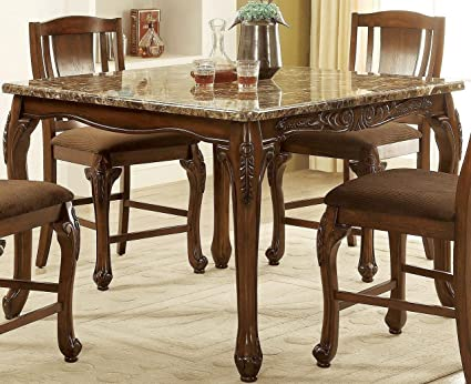 Image Unavailable Not Available For Color Furniture Of America CM3873PT Johannesburg Counter Height Dining Table