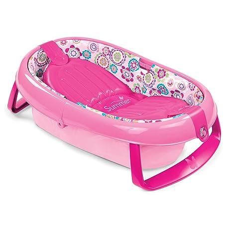 Summer Infant Fold Away Baby Bath Tub (Pink) Baby Bath Tubs at amazon