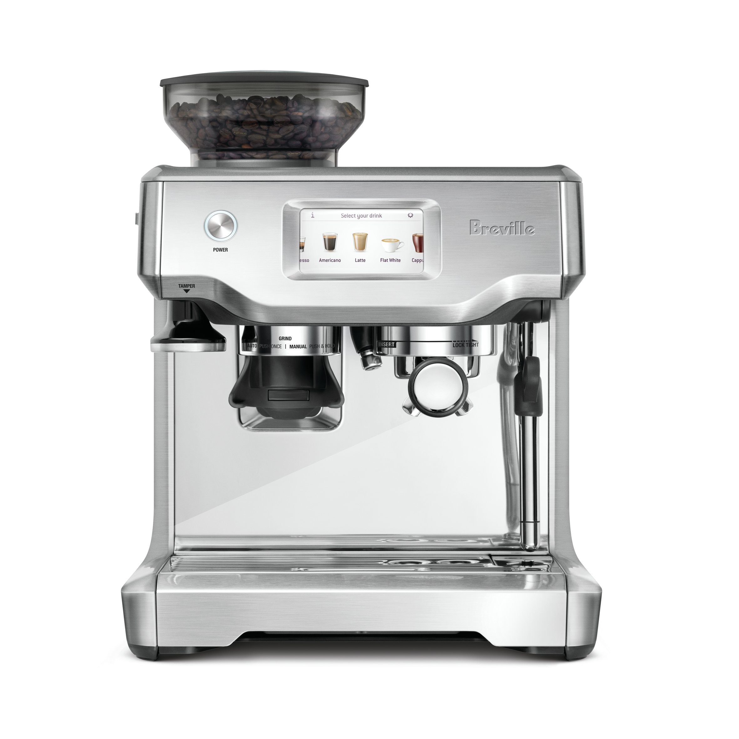 Breville BES880BSS Barista Touch Espresso Maker, Stainless Steel product  image
