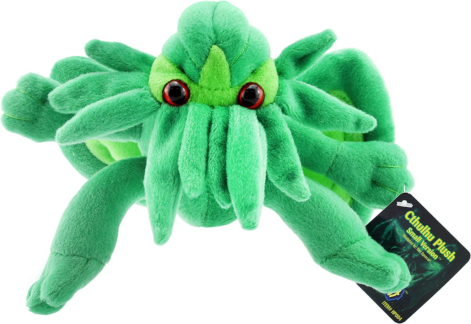 Toy Vault Mini Cthulhu Plush, 8-Inch; Stuffed Horror Toy Based on H.P. Lovecraft's Weird Fiction, Small Size