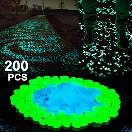 boomile glow in the dark garden pebbles for walkways outdoor decor aquarium fish tank garden decorative - Glow In The Dark Garden Pebbles