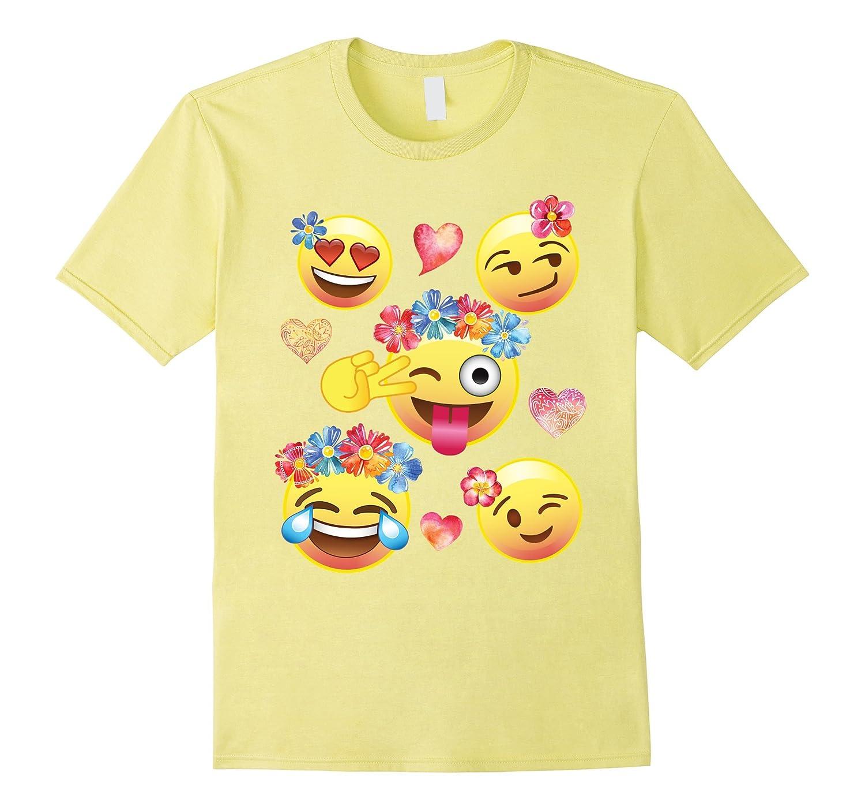 Cute emoji flower crowns shirt for girls teens men women td theteejob cute emoji flower crowns shirt for girls teens men women td izmirmasajfo