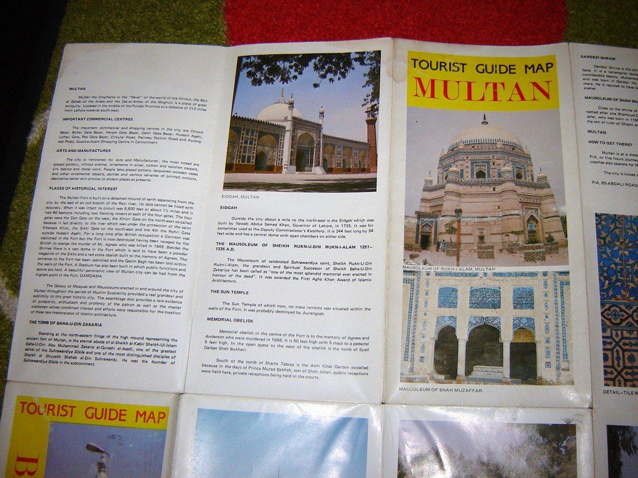 Tourist Guide Map of MULTAN and BAHAWALPUR cities of Pakistan