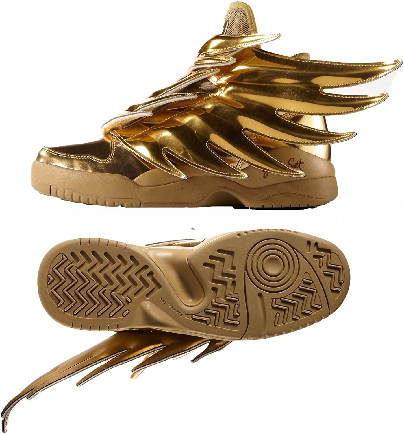 Adidas Obyo Js Jeremy Scott Wings 3 0 B35651 Gold Spiky Dark Knight Batman Shoes Size 4 Shoes