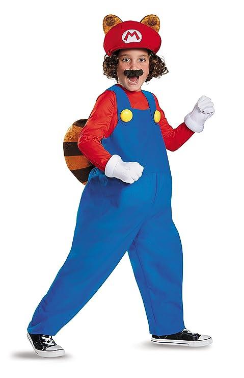 Mario Raccoon Deluxe Super Mario Bros. Nintendo Costume, Large/10-12