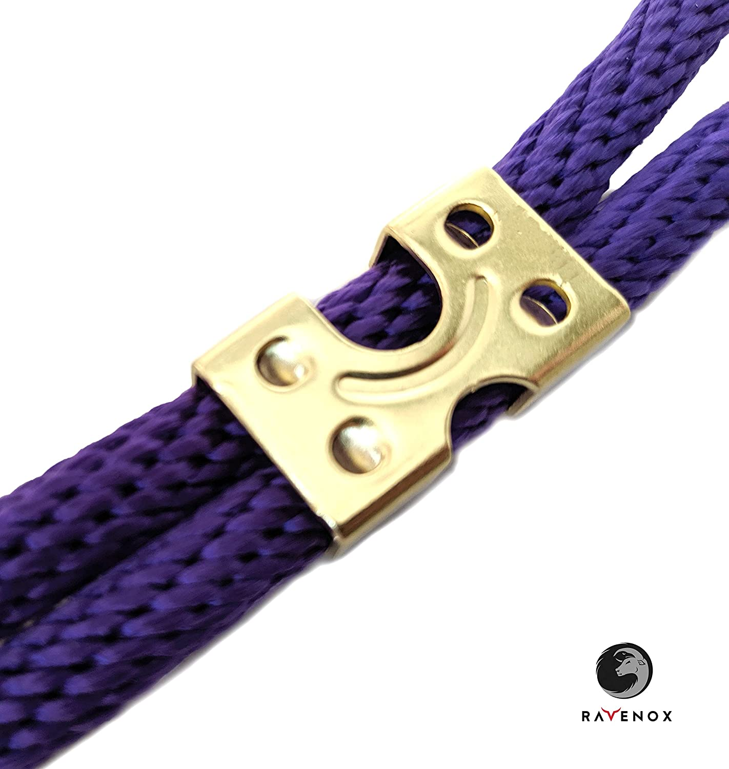 Ravenox Metal Clamps for Rope | 3//8-inch x 100 Pack Cables /& Cords Brass Plated Metal Clips for 3//8-inch 1//2-inch or 5//8-inch Ropes | Medium Duty Zinc Plated or Brass Plated Double Rope Clamps