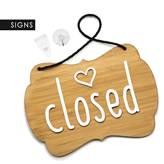 3DP Signs | Shabby Chic Decor - Open Closed - Cartel Doble ...