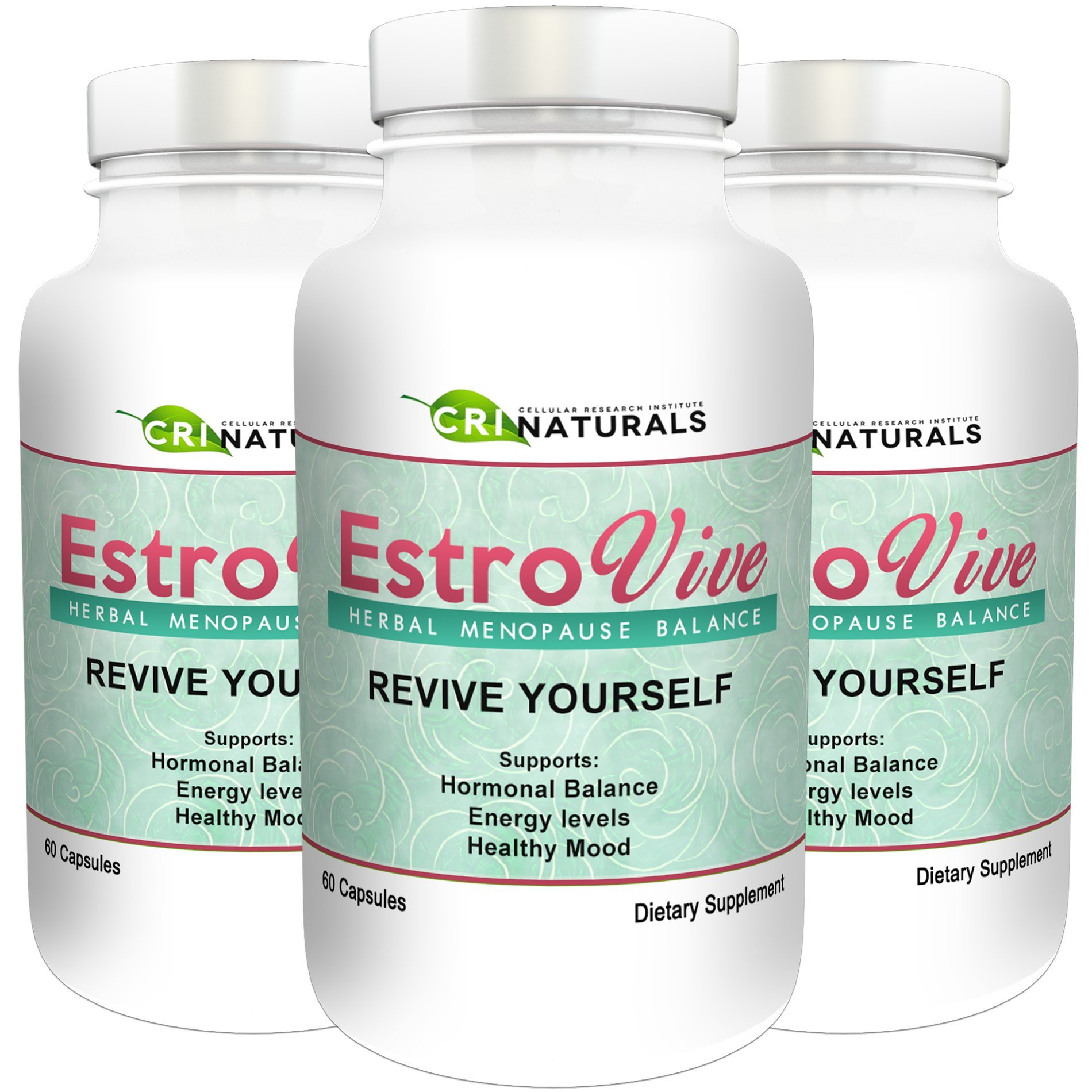 Estrovive - Hot Flashes Menopause Relief - Black Cohosh Menopause Complex - Sleeping Pills - Hot Flash Relief 3 - Pack