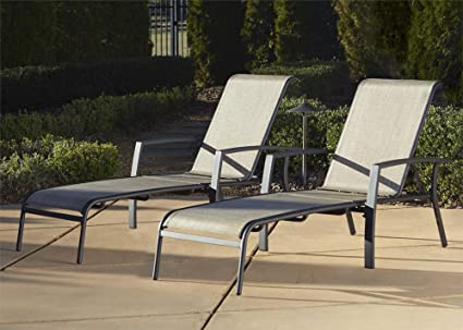 Lounge Outdoor amazon com cosco outdoor adjustable aluminum chaise lounge chair