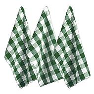 DII Oversized Kitchen Shamrock Green Buffalo Check Dishtowel (Set of 3), Green and White Buffalo Check