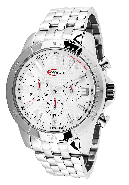 Creactive Herren-Armbanduhr Chronograph Quarz Analog Edelstahl - CA120108